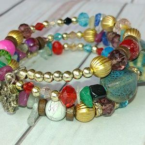 Jewelry - Multi-Color Wrap Bead Bracelet